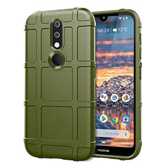 Ultra-thin Silicone Gel Soft Case 360 Degrees Cover for Nokia 4.2 Army green