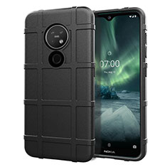 Ultra-thin Silicone Gel Soft Case 360 Degrees Cover for Nokia 6.2 Black
