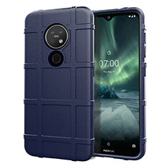 Ultra-thin Silicone Gel Soft Case 360 Degrees Cover for Nokia 7.2 Blue