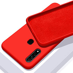 Ultra-thin Silicone Gel Soft Case 360 Degrees Cover for Oppo A31 Red