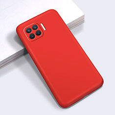 Ultra-thin Silicone Gel Soft Case 360 Degrees Cover for Oppo Reno4 F Red