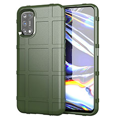 Ultra-thin Silicone Gel Soft Case 360 Degrees Cover for Realme 7 Pro Army green