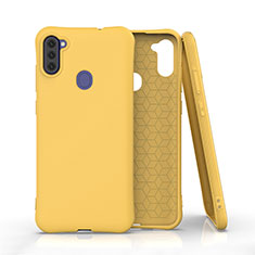 Ultra-thin Silicone Gel Soft Case 360 Degrees Cover for Samsung Galaxy A11 Yellow