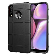 Ultra-thin Silicone Gel Soft Case 360 Degrees Cover for Samsung Galaxy A20s Black