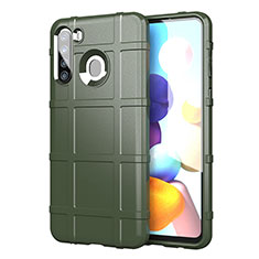 Ultra-thin Silicone Gel Soft Case 360 Degrees Cover for Samsung Galaxy A21 Army green