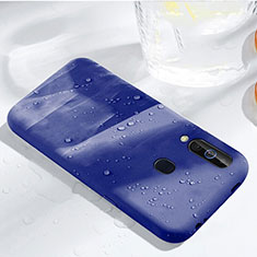 Ultra-thin Silicone Gel Soft Case 360 Degrees Cover for Samsung Galaxy A60 Blue