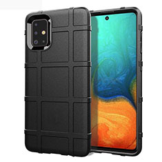Ultra-thin Silicone Gel Soft Case 360 Degrees Cover for Samsung Galaxy A71 5G Black