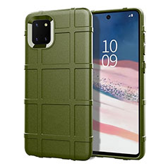 Ultra-thin Silicone Gel Soft Case 360 Degrees Cover for Samsung Galaxy A81 Green