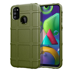 Ultra-thin Silicone Gel Soft Case 360 Degrees Cover for Samsung Galaxy M21 Green