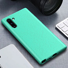 Ultra-thin Silicone Gel Soft Case 360 Degrees Cover for Samsung Galaxy Note 10 5G Cyan
