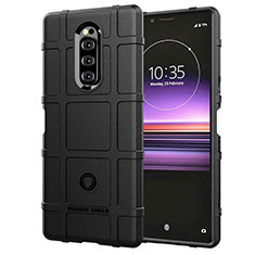 Ultra-thin Silicone Gel Soft Case 360 Degrees Cover for Sony Xperia 1 Black