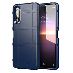 Ultra-thin Silicone Gel Soft Case 360 Degrees Cover for Sony Xperia 10 II Blue