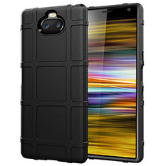 Ultra-thin Silicone Gel Soft Case 360 Degrees Cover for Sony Xperia 10 Plus Black