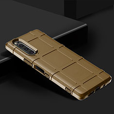 Ultra-thin Silicone Gel Soft Case 360 Degrees Cover for Sony Xperia 5 Brown