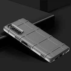 Ultra-thin Silicone Gel Soft Case 360 Degrees Cover for Sony Xperia 5 Silver