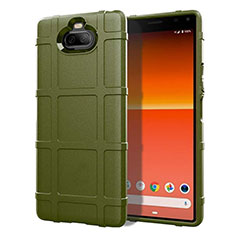 Ultra-thin Silicone Gel Soft Case 360 Degrees Cover for Sony Xperia 8 Army green