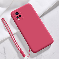 Ultra-thin Silicone Gel Soft Case 360 Degrees Cover for Vivo V20 Pro 5G Red Wine