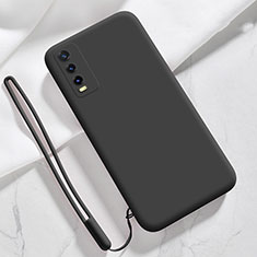 Ultra-thin Silicone Gel Soft Case 360 Degrees Cover for Vivo Y20s Black