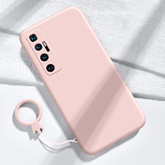 Ultra-thin Silicone Gel Soft Case 360 Degrees Cover for Xiaomi Mi 10 Ultra Pink