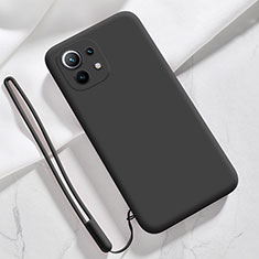 Ultra-thin Silicone Gel Soft Case 360 Degrees Cover for Xiaomi Mi 11 5G Black
