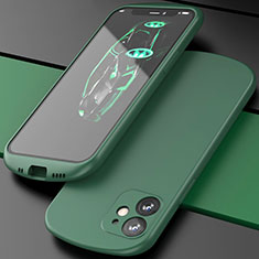 Ultra-thin Silicone Gel Soft Case 360 Degrees Cover N01 for Apple iPhone 12 Mini Green