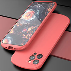 Ultra-thin Silicone Gel Soft Case 360 Degrees Cover N01 for Apple iPhone 12 Pro Max Red