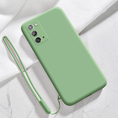 Ultra-thin Silicone Gel Soft Case 360 Degrees Cover N03 for Samsung Galaxy Note 20 5G Matcha Green
