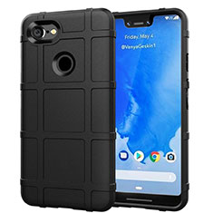 Ultra-thin Silicone Gel Soft Case 360 Degrees Cover S01 for Google Pixel 3 XL Black