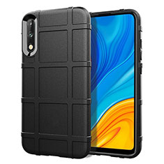 Ultra-thin Silicone Gel Soft Case 360 Degrees Cover S01 for Huawei Enjoy 10 Black