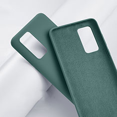 Ultra-thin Silicone Gel Soft Case 360 Degrees Cover S01 for Huawei P40 Green