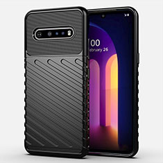 Ultra-thin Silicone Gel Soft Case 360 Degrees Cover S01 for LG V60 ThinQ 5G Black
