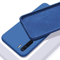 Ultra-thin Silicone Gel Soft Case 360 Degrees Cover S01 for Oppo A91 Blue