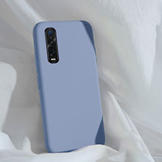 Ultra-thin Silicone Gel Soft Case 360 Degrees Cover S01 for Oppo Find X2 Pro Gray