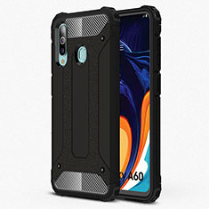 Ultra-thin Silicone Gel Soft Case 360 Degrees Cover S01 for Samsung Galaxy A60 Black