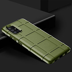 Ultra-thin Silicone Gel Soft Case 360 Degrees Cover S01 for Samsung Galaxy A71 5G Green