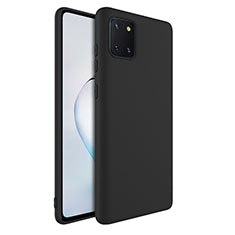 Ultra-thin Silicone Gel Soft Case 360 Degrees Cover S01 for Samsung Galaxy A81 Black