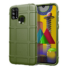 Ultra-thin Silicone Gel Soft Case 360 Degrees Cover S01 for Samsung Galaxy M21s Green