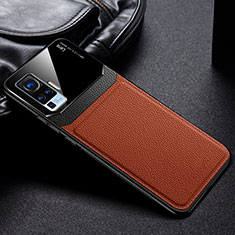 Ultra-thin Silicone Gel Soft Case 360 Degrees Cover S01 for Vivo X50 Pro 5G Brown