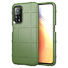 Ultra-thin Silicone Gel Soft Case 360 Degrees Cover S01 for Xiaomi Mi 10T 5G Army green