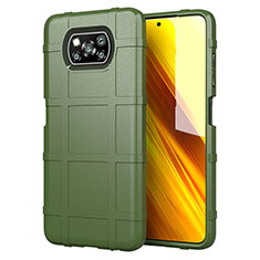 Ultra-thin Silicone Gel Soft Case 360 Degrees Cover S01 for Xiaomi Poco X3 NFC Green