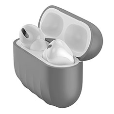 Ultra-thin Silicone Gel Soft Case 360 Degrees Cover S02 for Apple AirPods Pro Gray