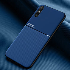 Ultra-thin Silicone Gel Soft Case 360 Degrees Cover S02 for Huawei Enjoy 10e Blue