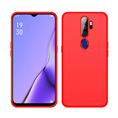 Ultra-thin Silicone Gel Soft Case 360 Degrees Cover S02 for Oppo A5 (2020) Red