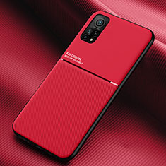 Ultra-thin Silicone Gel Soft Case 360 Degrees Cover S02 for Xiaomi Mi 10T 5G Red