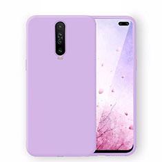 Ultra-thin Silicone Gel Soft Case 360 Degrees Cover S02 for Xiaomi Redmi K30 5G Purple