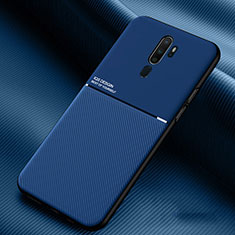Ultra-thin Silicone Gel Soft Case 360 Degrees Cover S04 for Oppo A9 (2020) Blue