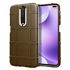 Ultra-thin Silicone Gel Soft Case 360 Degrees Cover S05 for Xiaomi Poco X2 Brown
