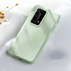 Ultra-thin Silicone Gel Soft Case 360 Degrees Cover S07 for Huawei P40 Pro+ Plus Green