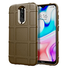 Ultra-thin Silicone Gel Soft Case 360 Degrees Cover S07 for Xiaomi Redmi 8 Brown