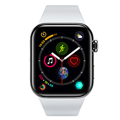 Ultra-thin Silicone Gel Soft Case Cover S01 for Apple iWatch 4 44mm Black